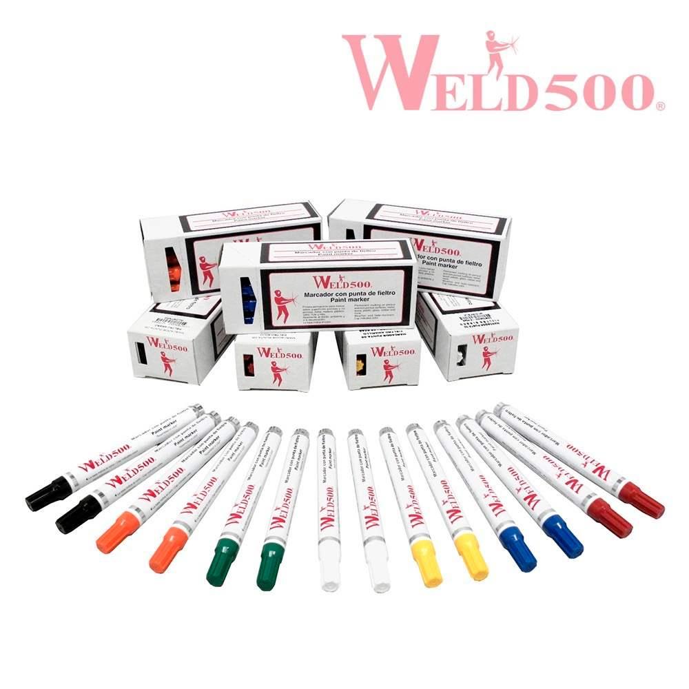 marcadores con punta de fieltro weld500
