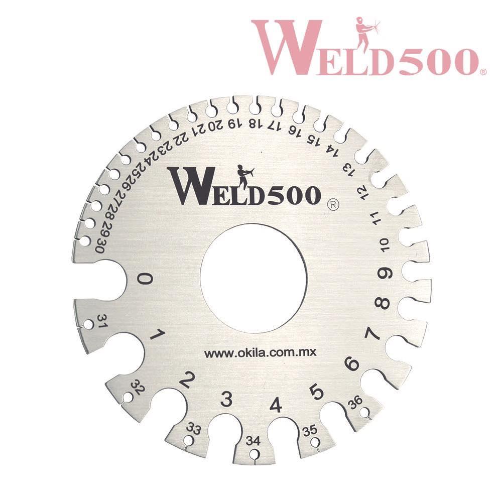 calibrador de diametro de alambre weld500