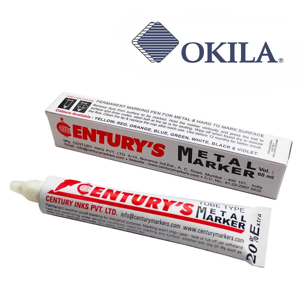 marcador de metal tipo tubo
