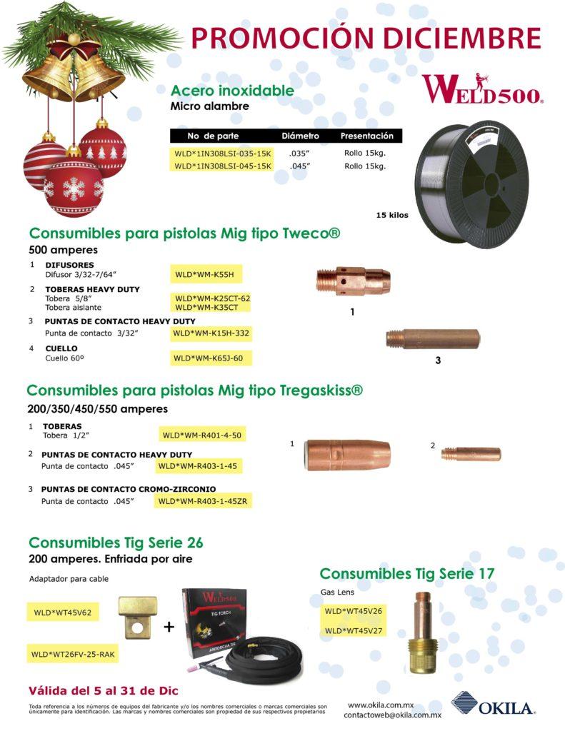 MIG y TIG accesorios y consumibles